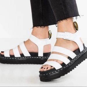 Dr. Martens Blaire White Hydro Leather Sandal